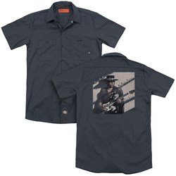 Stevie Ray Vaughan - Mens Texas Flood (Back Print) Work Shirt