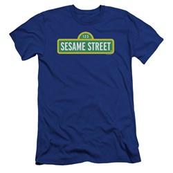 Sesame Street - Mens Logo Premium Slim Fit T-Shirt