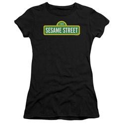 Sesame Street - Juniors Logo Premium Bella T-Shirt