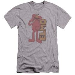 Sesame Street - Mens Vintage Elmo Premium Slim Fit T-Shirt