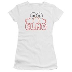 Sesame Street - Juniors Elmo Letters Premium Bella T-Shirt