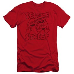Sesame Street - Mens Group Crunch Premium Slim Fit T-Shirt