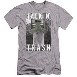 Sesame Street - Mens Talkin Trash Premium Slim Fit T-Shirt