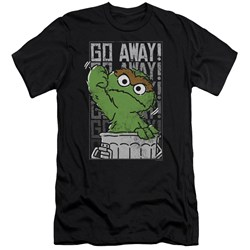 Sesame Street - Mens Go Away Premium Slim Fit T-Shirt