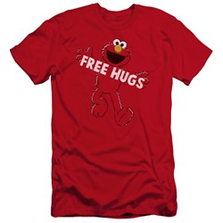 Sesame Street - Mens Free Hugs Premium Slim Fit T-Shirt