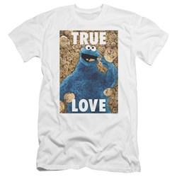 Sesame Street - Mens Beautiful Cookies Premium Slim Fit T-Shirt