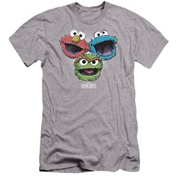 Sesame Street - Mens Halftone Heads Premium Slim Fit T-Shirt
