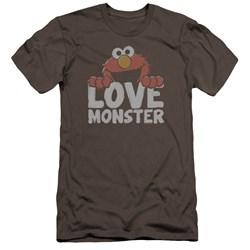 Sesame Street - Mens Love Monster Premium Slim Fit T-Shirt