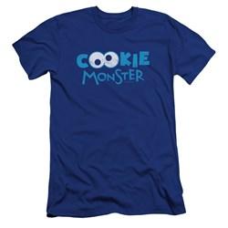 Sesame Street - Mens Cookie Eyes Premium Slim Fit T-Shirt