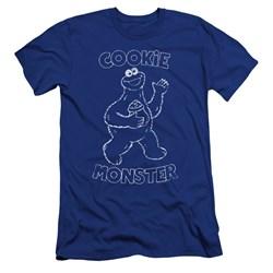 Sesame Street - Mens Simple Cookie Premium Slim Fit T-Shirt