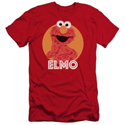 Sesame Street - Mens Elmo Scribble Premium Slim Fit T-Shirt