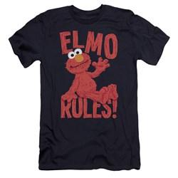 Sesame Street - Mens Elmo Rules Premium Slim Fit T-Shirt
