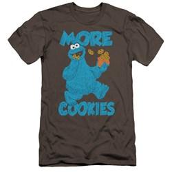 Sesame Street - Mens More Cookies Premium Slim Fit T-Shirt