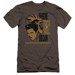 Sun - Mens Elvis And Rooster Premium Slim Fit T-Shirt
