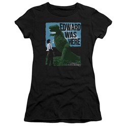 Edward Scissorhands - Juniors Edward Was Here Premium Bella T-Shirt