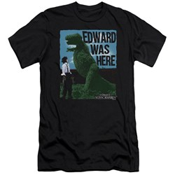 Edward Scissorhands - Mens Edward Was Here Premium Slim Fit T-Shirt