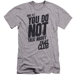 Fight Club - Mens Rule 1 Premium Slim Fit T-Shirt