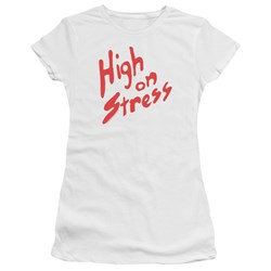 Revenge Of The Nerds - Juniors High On Stress Premium Bella T-Shirt