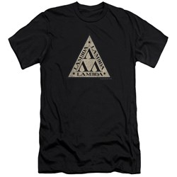 Revenge Of The Nerds - Mens Tri Lambda Logo Premium Slim Fit T-Shirt