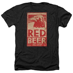 Archer - Mens Red Beer Label Heather T-Shirt