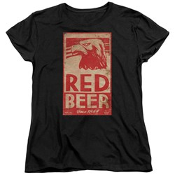 Archer - Womens Red Beer Label T-Shirt