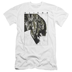 Aliens - Mens Aliens Inside Premium Slim Fit T-Shirt