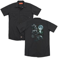 Aliens - Mens Alien Howl (Back Print) Work Shirt
