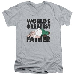 Family Guy - Mens The Greatest Father V-Neck T-Shirt