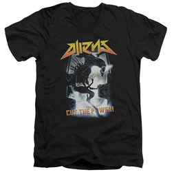 Aliens - Mens Cut The Power V-Neck T-Shirt