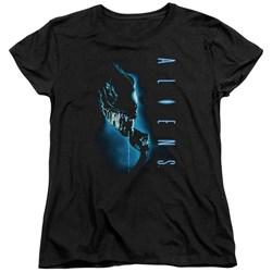 Aliens - Womens Classic Blue T-Shirt