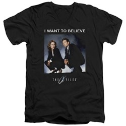 X Files - Mens Want To Believe V-Neck T-Shirt