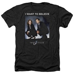 X Files - Mens Want To Believe Heather T-Shirt