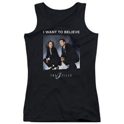 X Files - Juniors Want To Believe Tank Top