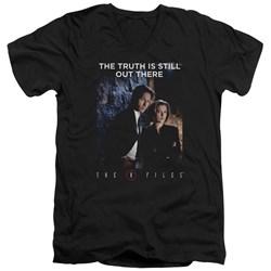 X Files - Mens Teamwork Truth V-Neck T-Shirt