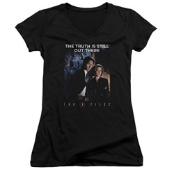 X Files - Juniors Teamwork Truth V-Neck T-Shirt