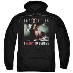 X Files - Mens Believe At The Office Pullover Hoodie