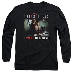 X Files - Mens Believe At The Office Long Sleeve T-Shirt