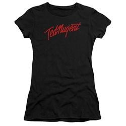 Ted Nugent - Juniors Distress Logo Premium Bella T-Shirt