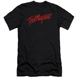 Ted Nugent - Mens Distress Logo Premium Slim Fit T-Shirt