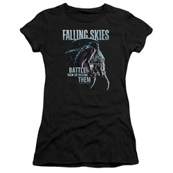 Falling Skies - Juniors Battle Or Become Premium Bella T-Shirt