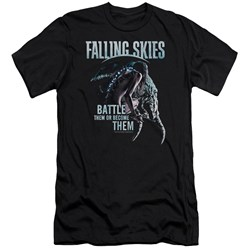 Falling Skies - Mens Battle Or Become Premium Slim Fit T-Shirt