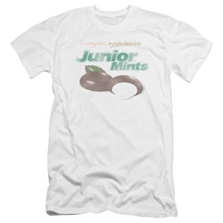 Tootsie Roll - Mens Junior Mints Logo Premium Slim Fit T-Shirt