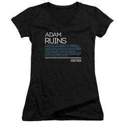 Adam Ruins Everything - Juniors Everything V-Neck T-Shirt