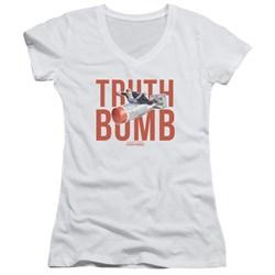 Adam Ruins Everything - Juniors Truth Bomb V-Neck T-Shirt
