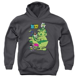 Teen Titans Go - Youth Beast Boy Stack Pullover Hoodie