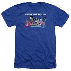 Teen Titans Go - Mens Like Pros Yo Heather T-Shirt