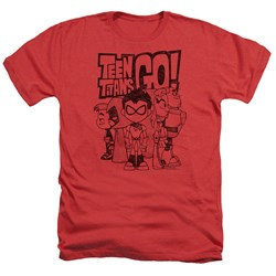 Teen Titans Go - Mens Team Up Heather T-Shirt
