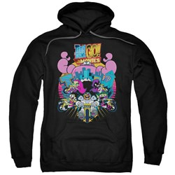Teen Titans Go To The Movies - Mens Burst Through Pullover Hoodie