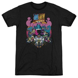 Teen Titans Go To The Movies - Mens Burst Through Ringer T-Shirt