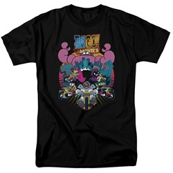 Teen Titans Go To The Movies - Mens Burst Through T-Shirt